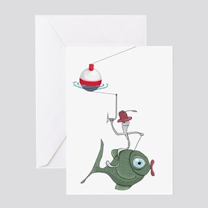 Funny Fish Card Greeting Cards