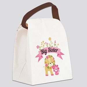 Big Sister Lions Canvas Lunch Bag