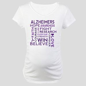 Alzheimers Support Word Cloud Maternity T-Shirt