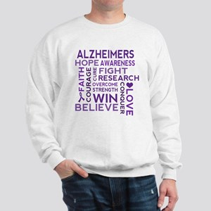 Alzheimers Support Word Cloud Sweatshirt