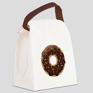 Sprinkle Donut Canvas Lunch Bag