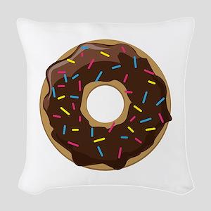 Sprinkle Donut Woven Throw Pillow