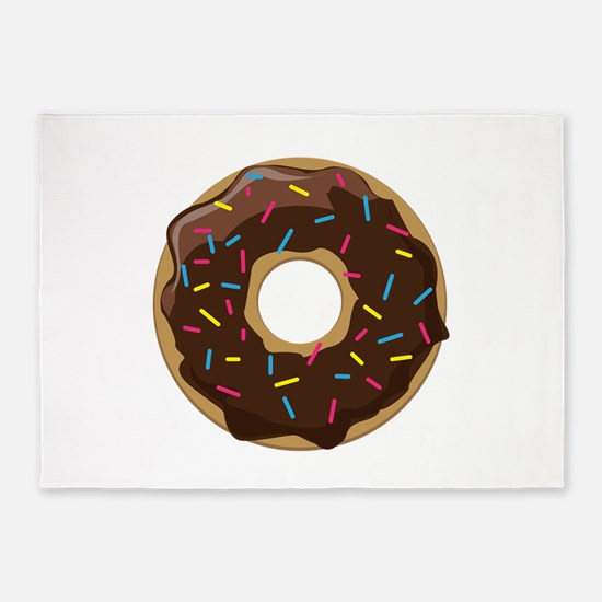 Sprinkle Donut 5'x7'Area Rug