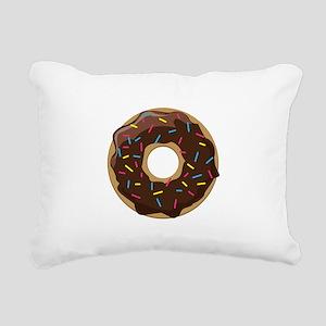 Sprinkle Donut Rectangular Canvas Pillow