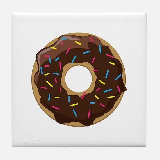 Sprinkle Donut Tile Coaster