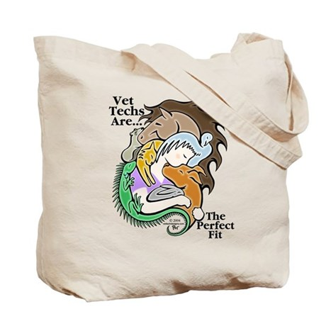 Vet Techs Are The Perfect Fit - Tote Bag