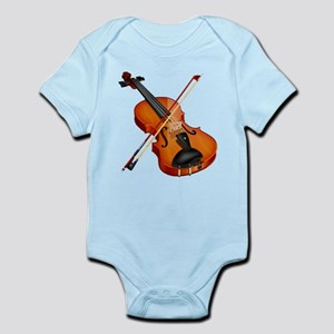 Beautiful Violin and Bow Musical Instrument Body S