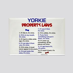 Yorkie Property Laws 3 Rectangle Magnet