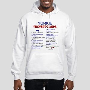 Yorkie Property Laws 3 Hooded Sweatshirt