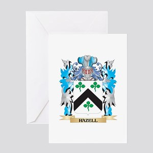 Hazell Coat of Arms - Family Crest Greeting Cards