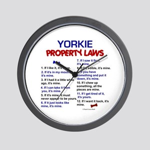 Yorkie Property Laws 3 Wall Clock