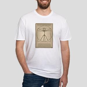 Vitruvian Stickman Fitted T-Shirt