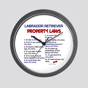 Labrador Retriever Property Laws 3 Wall Clock