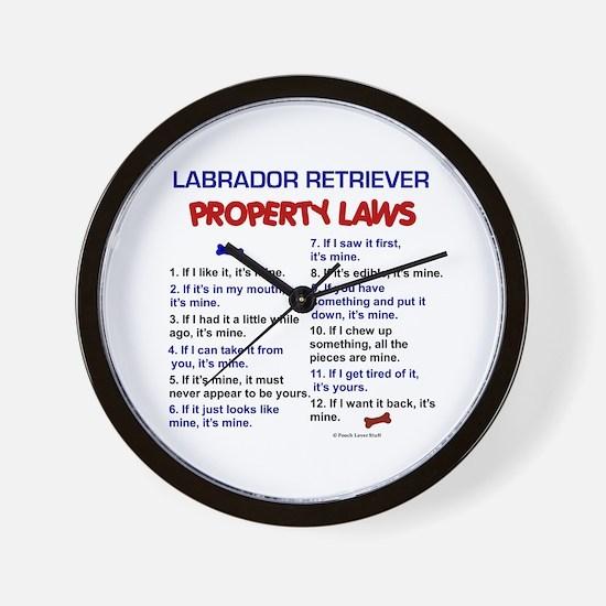 Labrador Retriever Property Laws 3 Wall Clock