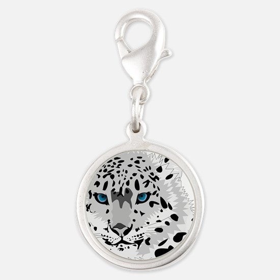 Beautiful Blue Eyed Snow Leopard Charms