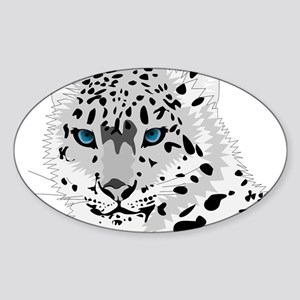 Beautiful Blue Eyed Snow Leopard Sticker