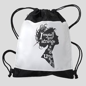 Lydia quote Drawstring Bag