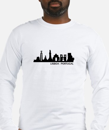 Skyline Lisboa - Portugal Long Sleeve T-Shirt