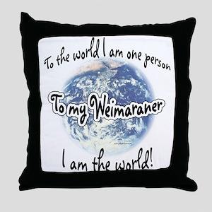 Weimaraner World2 Throw Pillow
