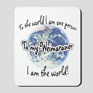 Weimaraner World2 Mousepad
