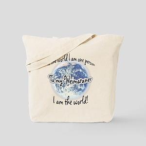 Weimaraner World2 Tote Bag
