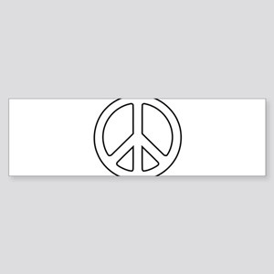 White Peace Symbol Bumper Sticker