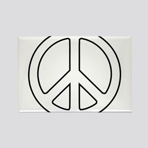 White Peace Symbol Magnets