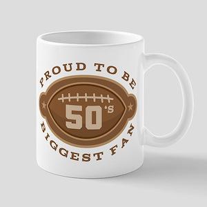 Football Number 50 Biggest Fan Mug