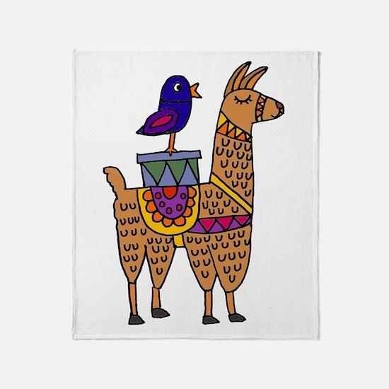 Cool Llama Throw Blanket