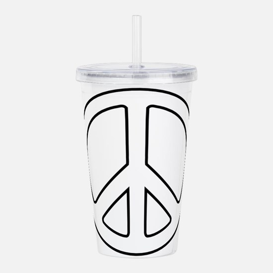 Unique Peace Acrylic Double-wall Tumbler