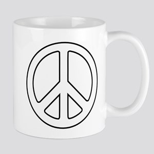 White Peace Symbol Mugs