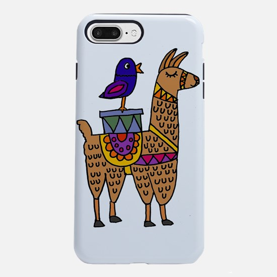 Cute Llama and Bird Carto iPhone 7 Plus Tough Case