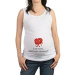 I Melt Hearts Maternity Tank Top