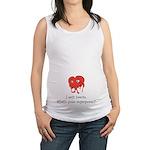 I Melt Hearts Maternity Tank Top