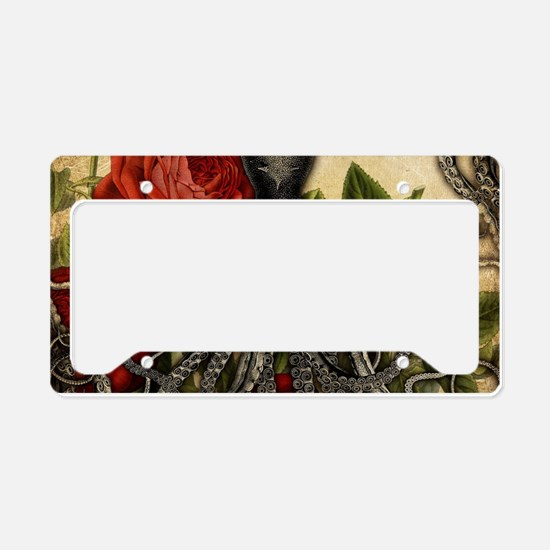 Tentacles And Roses License Plate Holder