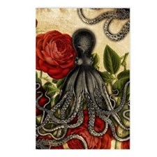 Tentacles And Roses Postcards (Package of 8)