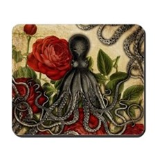 Tentacles And Roses Mousepad