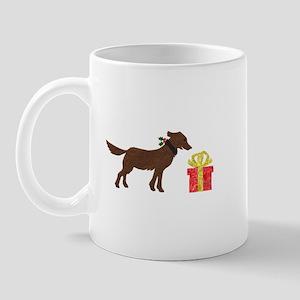 Dog & Christmas Gift Left Mug