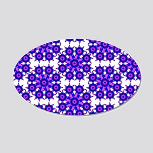 Native Purple Star Round 20x12 Oval Wall Decal