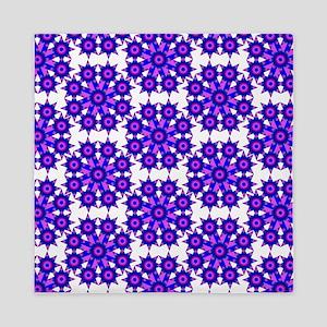 Native Purple Star Round Queen Duvet