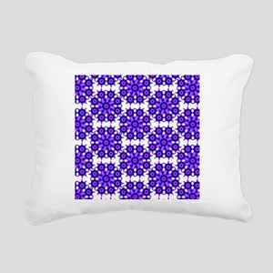 Native Purple Star Round Rectangular Canvas Pillow