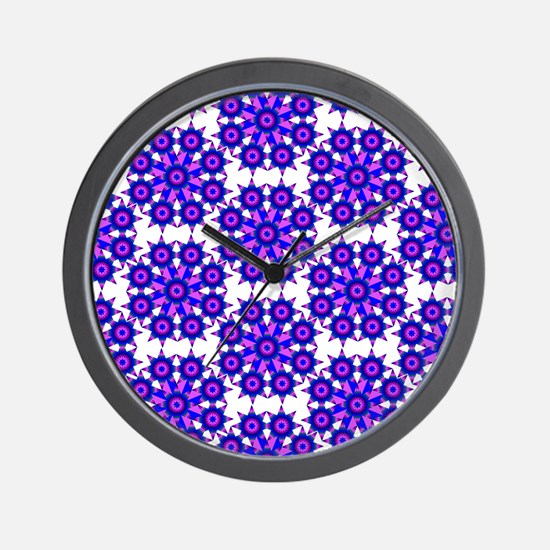 Native Purple Star Round Wall Clock