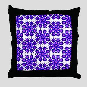Native Purple Star Round Throw Pillow