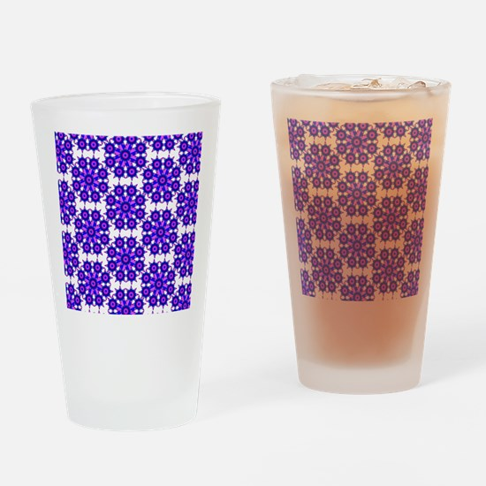 Native Purple Star Round Drinking Glass