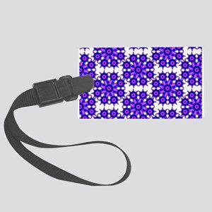 Native Purple Star Round Large Luggage Tag