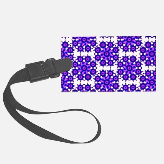 Native Purple Star Round Luggage Tag