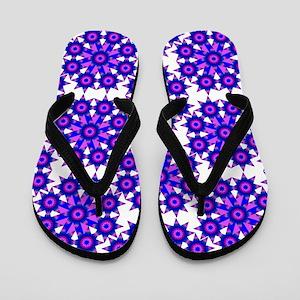 Native Purple Star Round Flip Flops