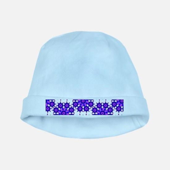 Native Purple Star Round baby hat
