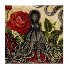 Tentacles And Roses Tile Coaster