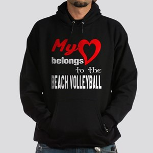 My Heart belongs to the Beach Volley Hoodie (dark)